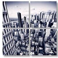 Модульная картина здания с высоты