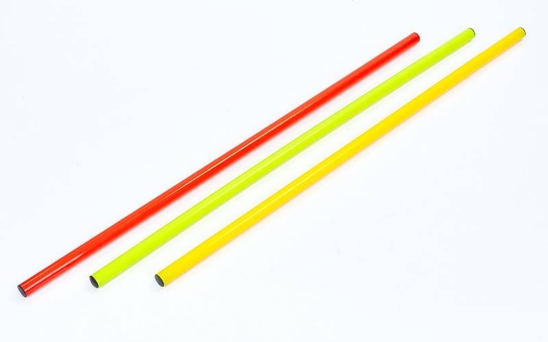 Палка гимнастическая тренировочная (штанга) пластик 0,8м(длина-0,8м, d-2,5см, цвета в ассорт.)Z