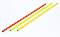 Палка гимнастическая тренировочная (штанга) пластик 0,8м(длина-0,8м, d-2,5см, цвета в ассорт.)Z, фото 1
