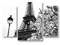 Модульная картина фонарь и Эйфелева Башня