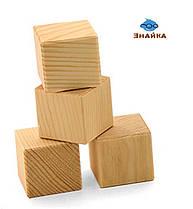Кубики деревянные, 4 шт