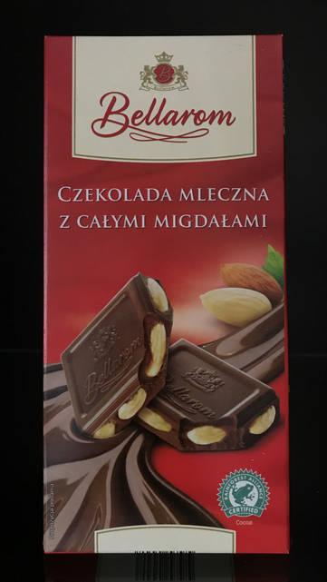 Шоколад молочный с миндалем Bellarom 200г
