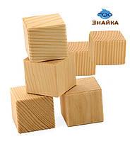Кубики деревянные, 6 шт