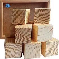 Кубики деревянные, 9 шт