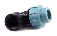 """Колено 63х2"""" резьба внутренняя для полиэтиленовых пнд труб (Santehplast), фото 1"""