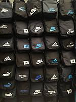 Барсетка nike adidas reebok puma 420D 600D для Унисекс Сумка борсетка спортивная для через плечо ОПТ