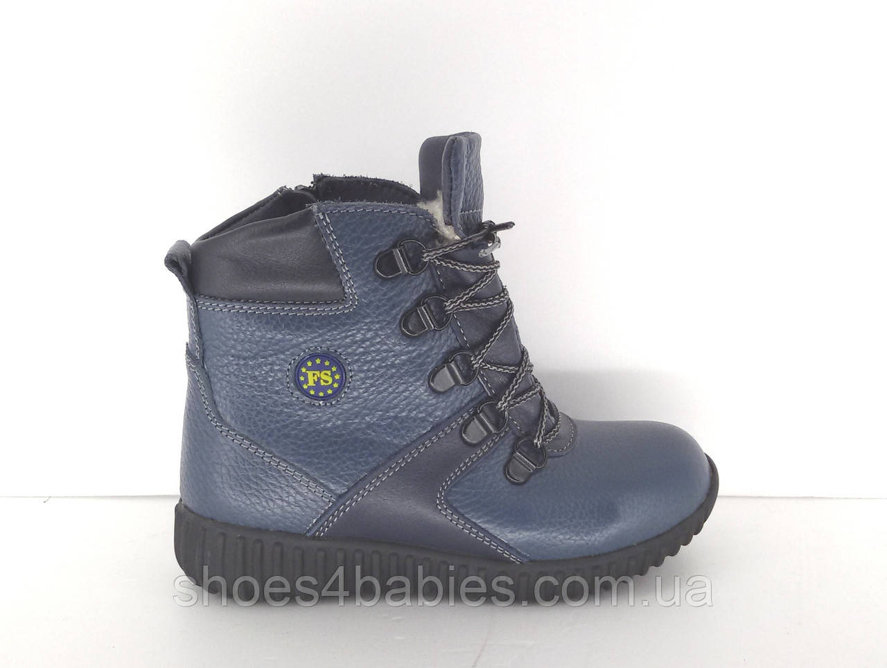 Детские зимние ботинки кожаные FS р. 27