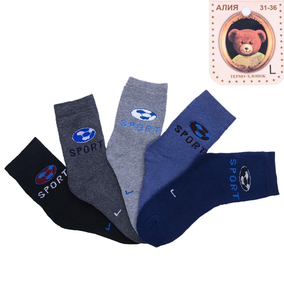 Носки детские махровые для мальчика с узором Спорт Алия C101-6