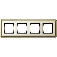 Рамка 4-пост. GIRA ClassiX бронза/кремовый