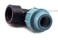 """Коліно 75х3"""" різьба внутрішня для поліетиленових пнд труб (Santehplast), фото 1"""