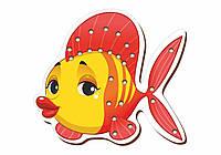 Шнуровка цветная, «Рыбка»