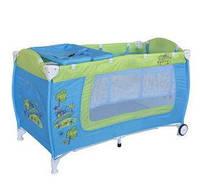 Кровать-манеж DANNY 2 LAYERS для детей с 0-3 лет (2 уровня, пеленатор, сумка) ТМ Lorelli (Bertoni)