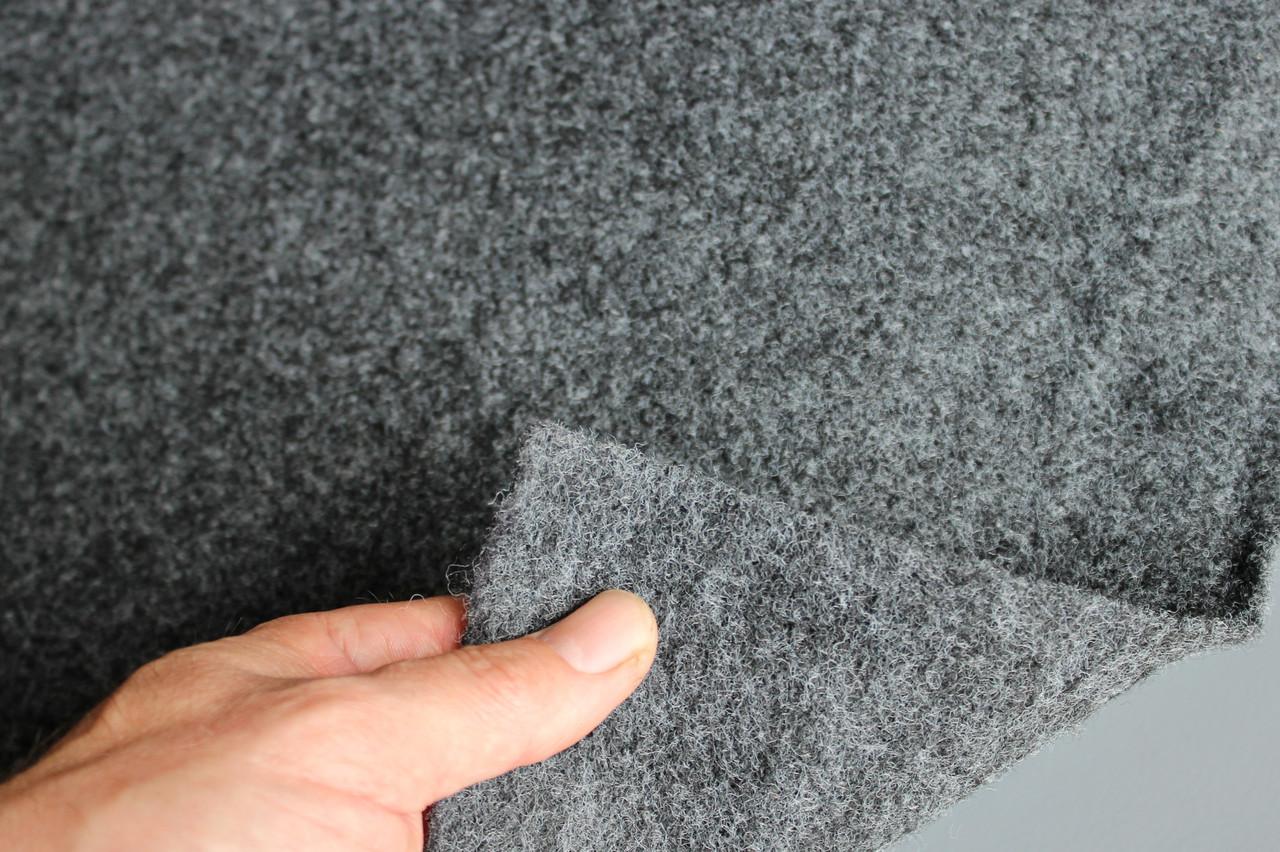 Авто-ковролин тягучий, серый шир. 2.0 м, ковролин для авто