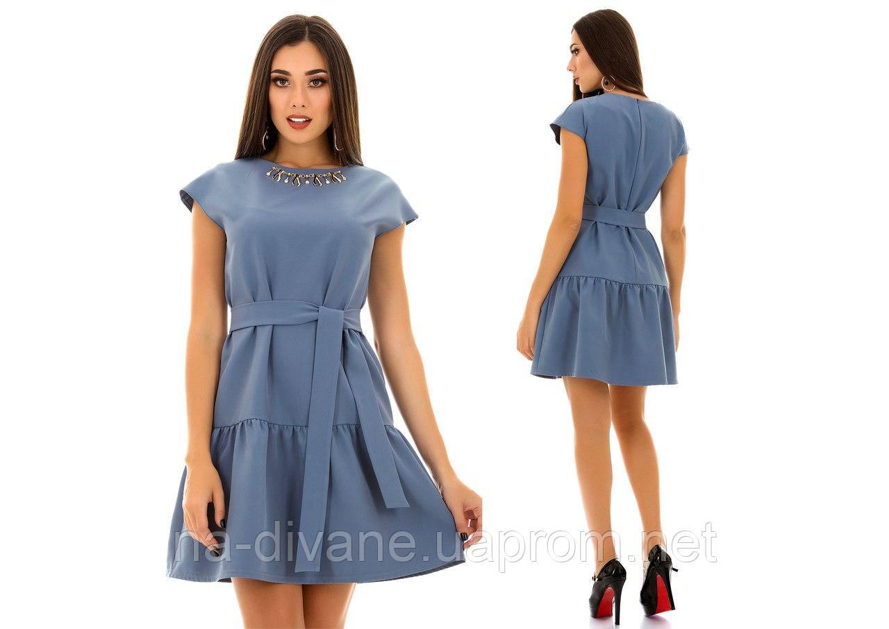 e1c0daf451d5d98 Женское платье 4014 ИК 46, серо-голубой, цена 331 грн., купить в Чернигове  — Prom.ua (ID#596412775)