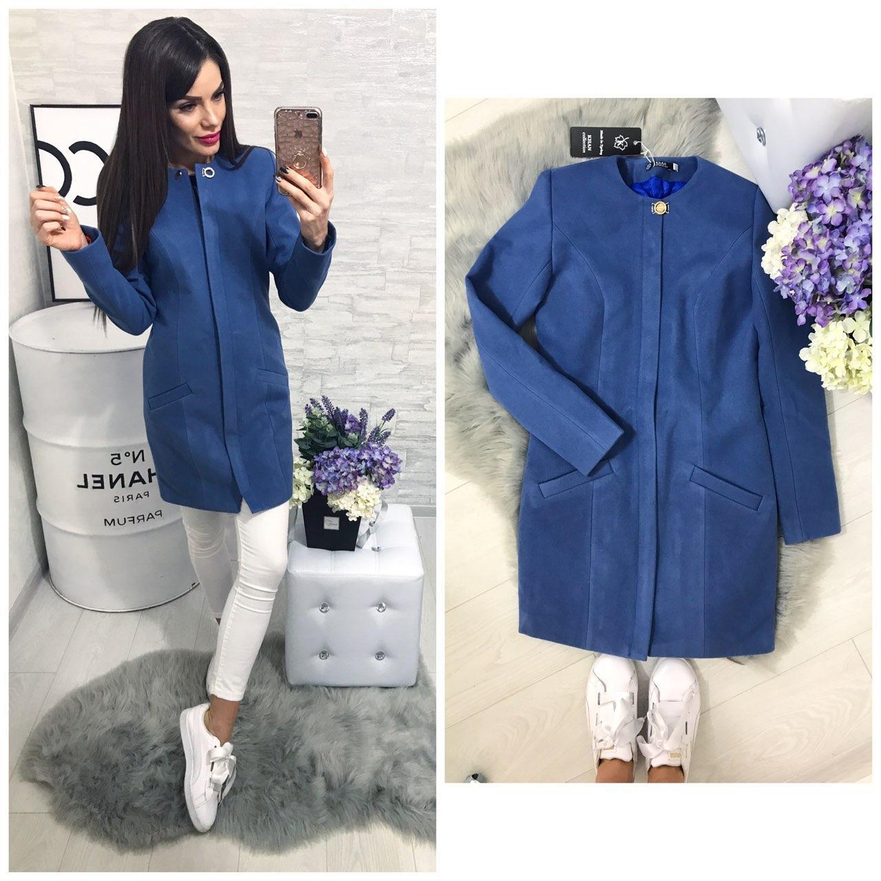 Пальто женское, модель  739/2,  джинс