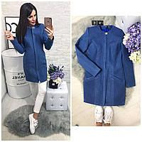 Пальто женское, модель  739/2,  джинс, фото 1