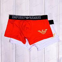 Трусы-шорты транки мужские с принтом Emporio Armani TRK-085 (2 ед. в упаковке)