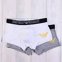 Трусы-шорты транки мужские с принтом Emporio Armani TRK-083 (2 ед. в упаковке)