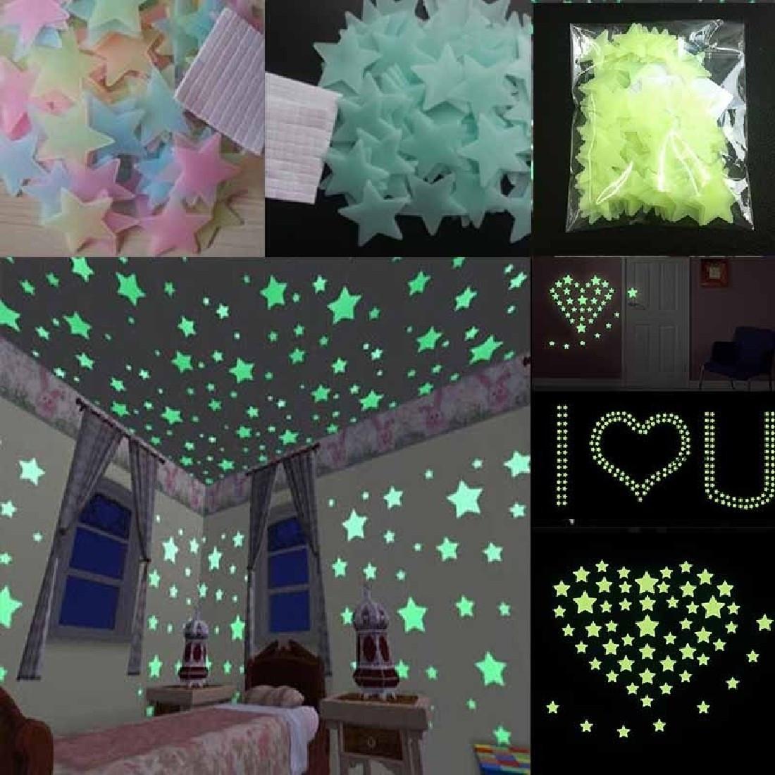 Светящиеся звезды на стену или потолок! Звездочки с фосфором!