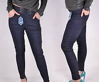 Женские брючные лосины-леггинсы под джинс Ласточка, демисезонные, синие, р. 44-50