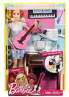 Игровой набор Барби с гитарой и пианино блондинка  Barbie Girls Music Blonde Activity PlaysetFCP73