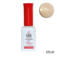 SheGel Топ для гель-лаков с мерцающим эффектом GOLD 10 мл.