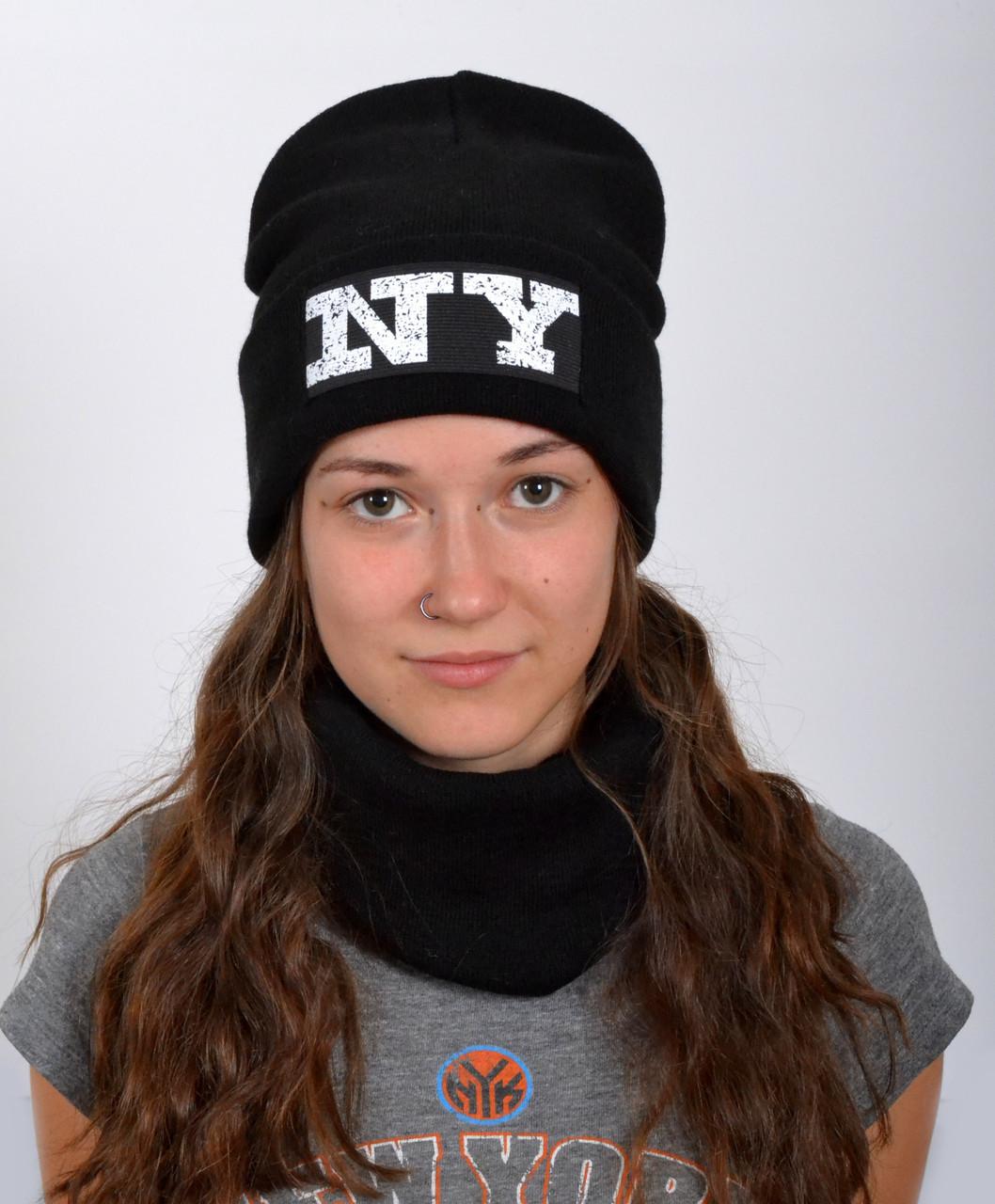 Модная черная шапка для подростков девочек