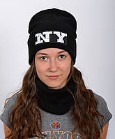 Модная черная шапка для подростков девочек, фото 1