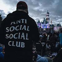"""Толстовка с принтом """"Antisocial social club ASSC""""   Худи мужская"""