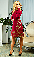 """Коктейльное женское платье """" Доминика """" цвета марсала"""
