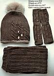 Зимняя шапка на девочку с пушистым помпоном, фото 10