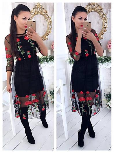 Платье(Фабричный Китай) качество люкс (2131)