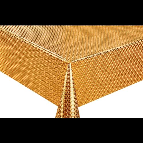 Клеенка ПВХ на тканной основе чеканная золото 8635А