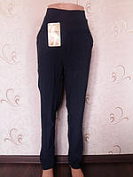 Термо брюки женские на флисе бамбук Ласточка, с карманами, 5,6,7XL, синие, А526-6