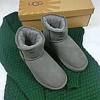Угги женские UGG Australia 14016 серые низкие