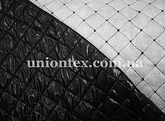 Плащевка стеганная на синтепоне черная (ромб 3,5см)
