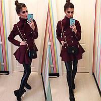 """Женское стильное кашемировое пальто """"Бонита"""" (2 цвета) , фото 1"""