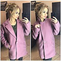 Женское пальто кашемир свободного кроя цвет КРАСНЫЙ