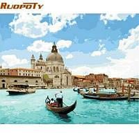 Живопись 40*50 Венеция, морской вода картина своими руками, рисование по номерам.