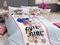 """Подростковый комплект постельного белья First Choice """"CUTE GIRL"""", ранфорс Delux 3D"""