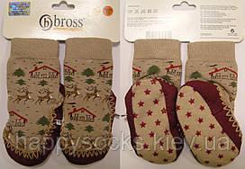 """Теплые носки-тапочки для детей """"Bross"""" 6-12 мес./18-19р(11,5см) 3"""