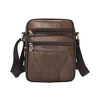 Высококачественная  коричневая  мужская сумка