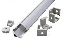 Комплект (профиль алюминиевый + рассеиватель РС) угловой