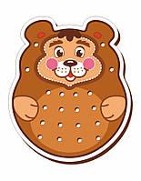 Шнуровка цветная, «Медведь»