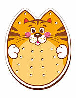 Шнуровка цветная, «Кот»