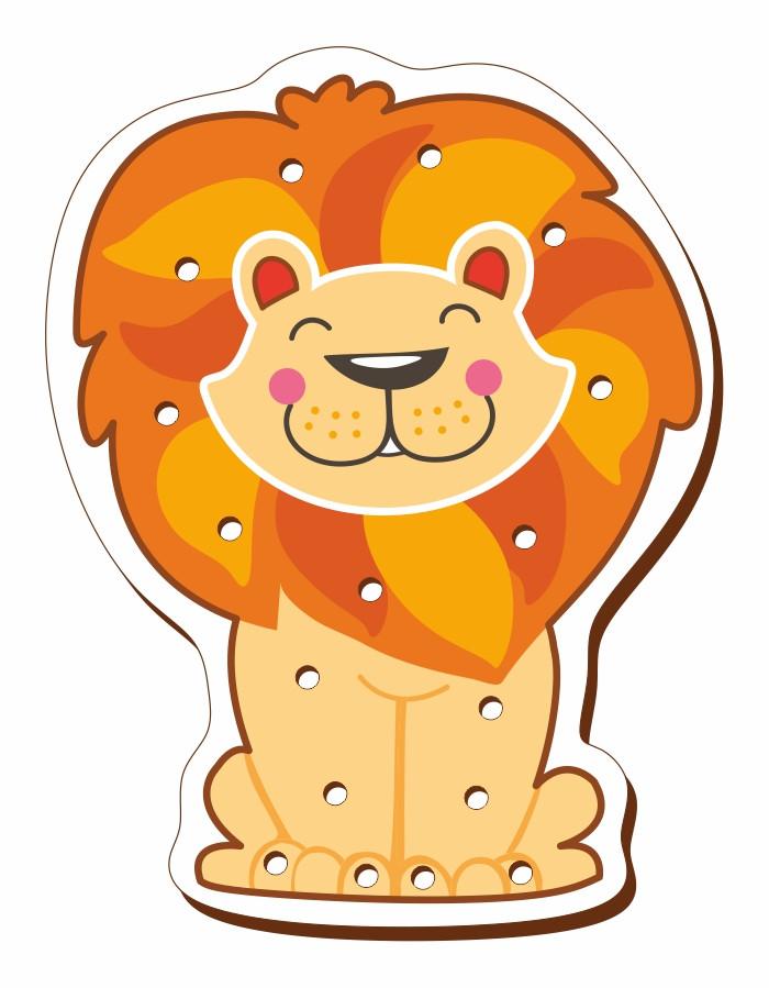 Шнуровка цветная, «Лев»