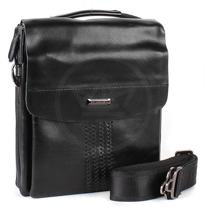 768b6ade2d76 Мужская сумка Bradford 918-1 на три молнии искусственная кожа размер 17 х  21 х