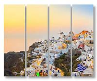 Модульная картина греческий городок