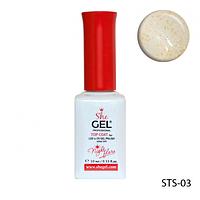 SheGel Топ для гель-лаков с мерцающим эффектом RED 10мл