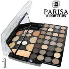 Parisa - Набор теней 2-ярусный PK-40 Professional Eyeshadow Kit Тон 01  матовые